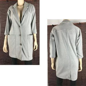 FREE PEOPLE 3-Button Longline Casual Jacket Small